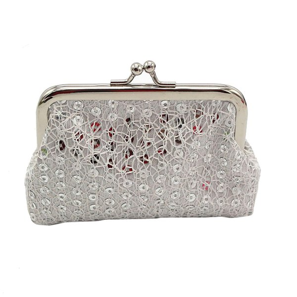 Sleeper #5001 Womens Small Sequin Wallet Card Holder Coin Purse Clutch Fashion for girls portable mini bag new
