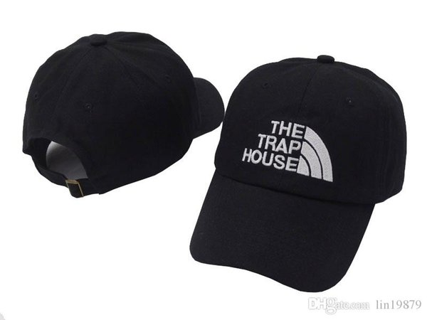 2018 neue Frauen MenTHE TRAP HOUSE Baseball Caps Visor Hut für Freizeit Brief Stickerei Snapback Hip Hop Cap 6 Panel Hüte