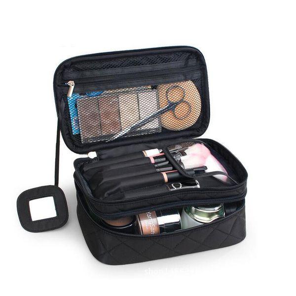 NOVA Sacos de Cosméticos Saco de Maquiagem Mulheres Organizador de Viagem Necessário Escova de Armazenamento Profissional Make Up Caso Beleza Saco de Higiene Pessoal