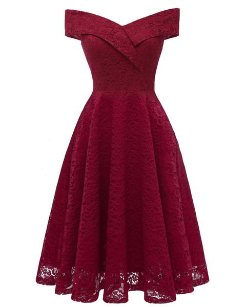 Burgundy Bridesmaid Dresses 2019 Junior Maid Of Honor Gowns Formal Pleats Wedding Guest Dress Lace Tulle Mixed Orders vestido de novia