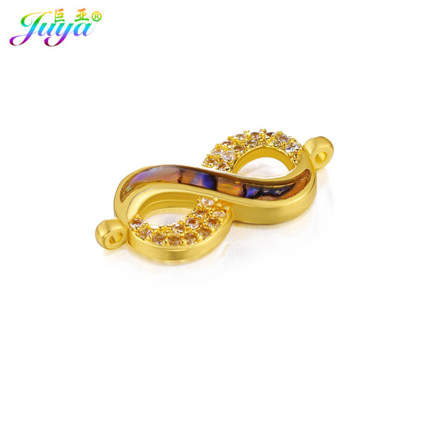 Wholesale DIY Jewelry Findings Gold/Silver/Rose Gold Infinity Connector Charms Accessories For Women Earrings Bracelets Making