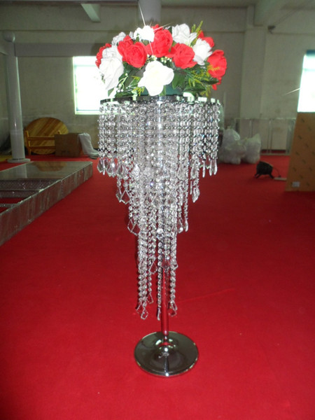 Free shipping Acrylic Crystal Wedding Party Table Centerpieces 100cm Tall X 40 Cm Diameter Three Tier Design Wedding Decor Road Leads