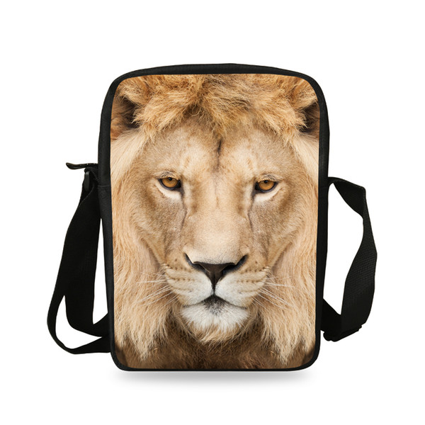 Men Messenger Bag Casual Animal Prints Lion Shoulder Bag Girls Cross Body  Bags For Women Child Small School Bags Boys 20378babd07c1
