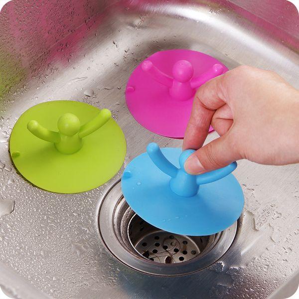 2pcs sink strainer Basin Bathtub Stopper shower drain cover rubber bath sink plug kitchen & bathroom accessories