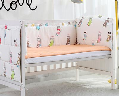 2016 6PCS cot baby bedding set cotton curtain crib bumper baby cot sets baby bed bumper (bumpers+sheet+pillow cover)