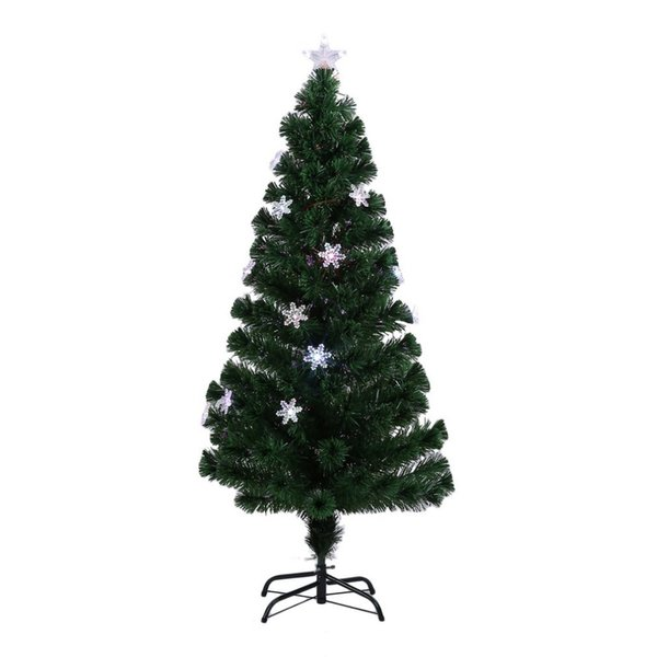 Flocons de Neige Sapin De Noël Décoratif Intérieur Extérieure LED Changement de Couleur LED Fibre Optique Optique Lumières Grand US Plug