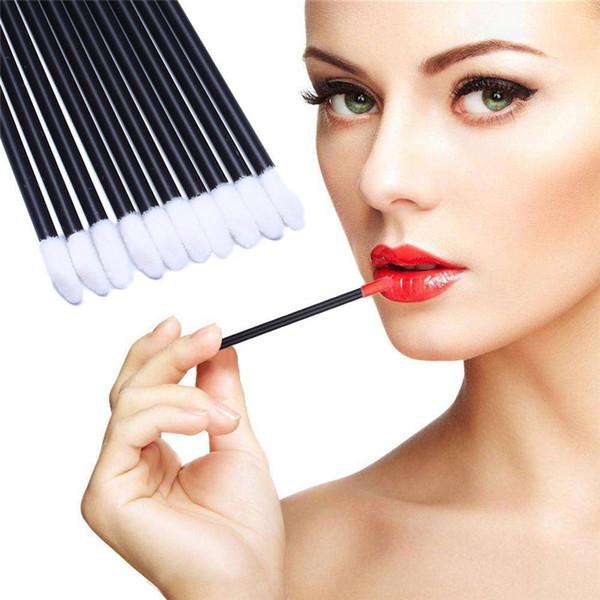 New 50Pcs/Pack Disposable Lip Brushes Make Up Brush Lipstick Lip Gloss Wands Applicator Tool Makeup Beauty Tool Kits