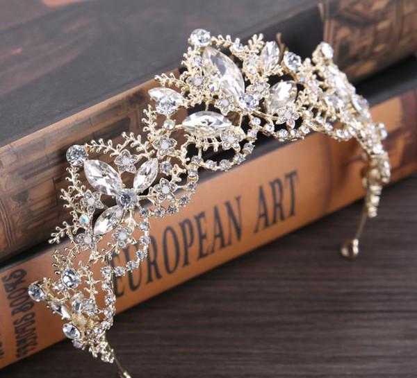 2018 new crystal bridal bridal ornaments crown wedding dress accessories