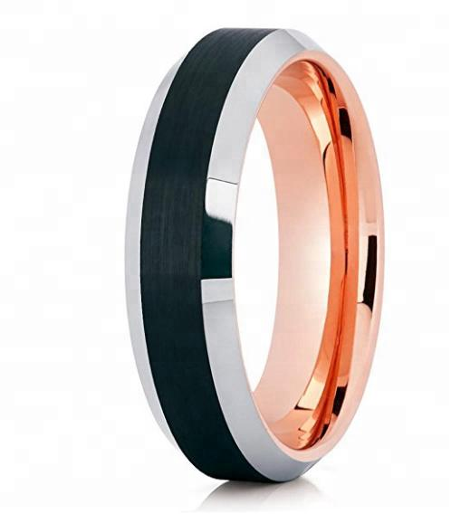 8mm black Brushed Blank Tungsten Ring For Men wedding band fashion jewlery