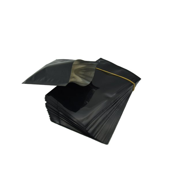 8x12cm Heat Sealable Mylar Bag Open Top Black Aluminum Foil Dried Food Packing Pouch Coffee Sugar Nut Storage Bags Supplies 200Pcs/lot