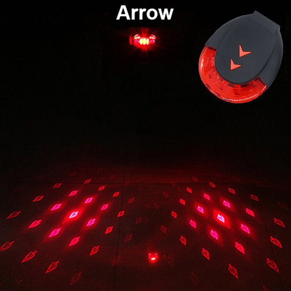 USB Line Laser Bicycle Rear Light Cycling Night Safety Warning LED Waterproof