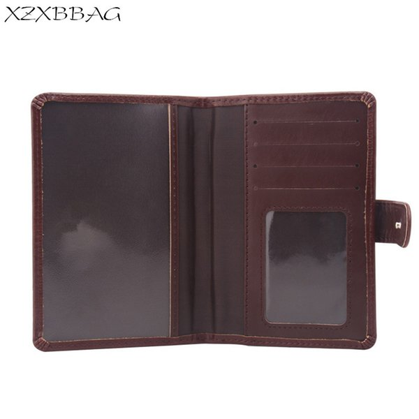 XZXBBAG PU Leather Travel Passport Card Case Sheath Russian Auto Driver License Bag Documents Protective Covers Passport Holder