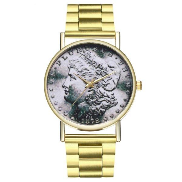 newest 5582a 6730a Acquista Orologio Sportivo Da Uomo In Acciaio Stile Vintage Da Donna Con  Cinturino In Acciaio Moneta Morgan A $10.3 Dal Watchesjewelry | DHgate.Com