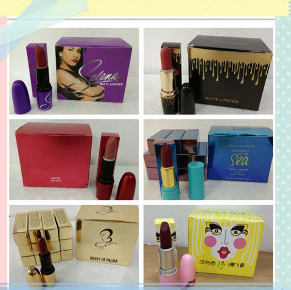 Factory Sale ! High quality New Arrivals M Brand Makeup Selena matte lipstick Cosmetics 12 colors KL lipstick