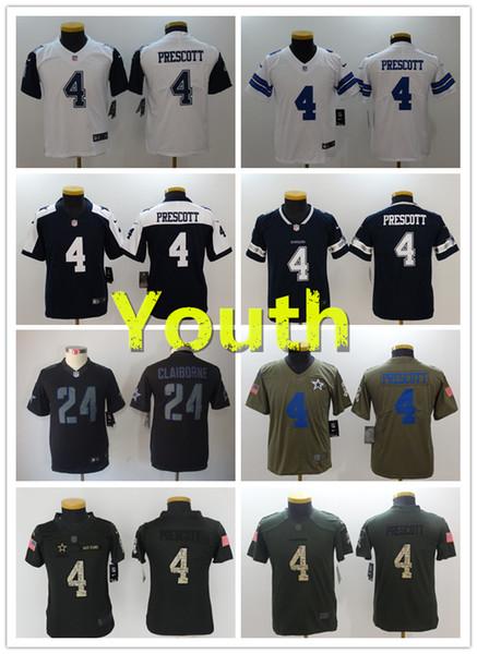 the best attitude 45a5c 4cc81 2018 2018 2019 New Youth 4 Dak Prescott Dallas Cowboys Football Jerseys  100% Stitched Embroidery 24 Marshawn Lynch Kid Football Stitching Jerseys  From ...