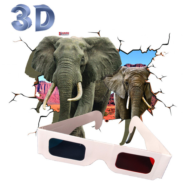 10pairs /lot Retail Red Blue Plasma Plastic 3D Glasses TV Movie Dimensional Anaglyph Framed 3D Vision Glasses for led projector