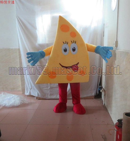 cheese mascot costume Free Shipping Adult Size,butter mascot plush toy carnival party celebrates mascot factory sales.