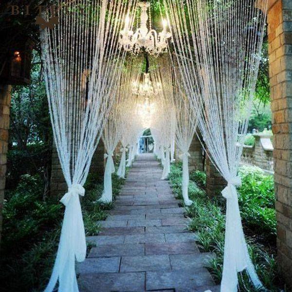 10mm * 30 Meter luxus Kristallglas Perlen Vorhang strang wohnzimmer fenster Schlafzimmer Tür Vorhang dekorative Hochzeit Hintergrund DIY