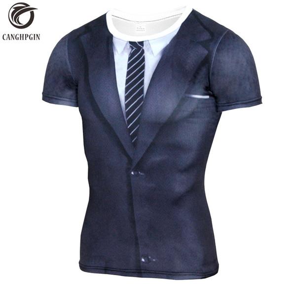 Nuevo traje falso 3D impreso camiseta hombres corriendo camisa de compresión medias transpirables Rashguard hombres gimnasio Fitness capa de base traje de deporte