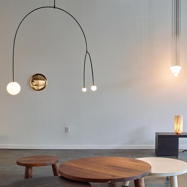 Nordic Postmodern Kronleuchter Eisen Linie Lustre Pendente Lampe Kreatives Wohnzimmer Schlafzimmer Luminaria Cafe Ausstellungshalle Hanglamp