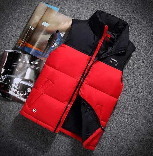 2019 nova dupla face de Alta Qualidade dos homens Para Baixo Colete Casaco Outerwear Casaco grosso inverno sportswear Vest para homens M-XXL