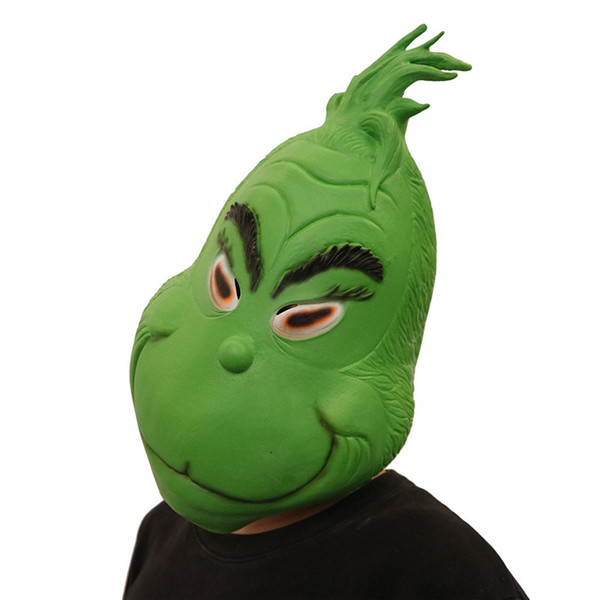 Christmas Full Head Masks The Grinch Mask Cosplay 3D Print Costumes Funny How the Grinch Stole Christmas Latex Green Mask Festival Supplies