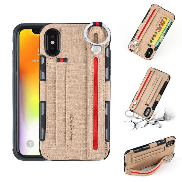 Handheld & Office Card Style Back Cover Case for iPhone X XS MAX XR 8 7 6s 6 Card Slot Holder Black 6s+ 7+ 8+ 7Plus XSM iPhoneXR