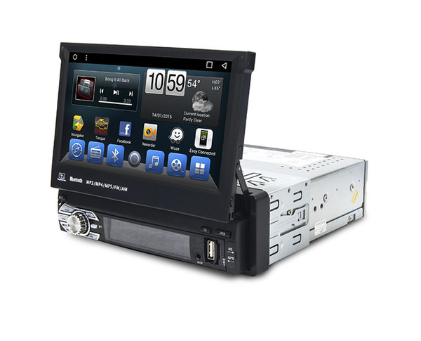 Car dvd Multimedia 1 Din Stereo Bluetooth Mp3 Mp4 Player Android System Built in GPS Navigation/Bluetooth Wifi 3G TV Radio ipod
