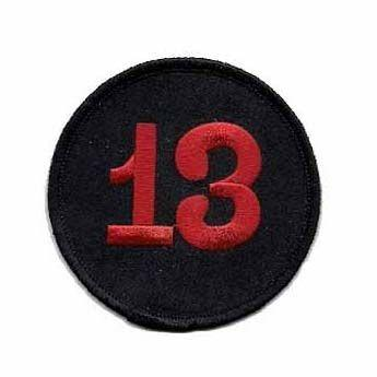 13 Back Patch Black Velvet with Red Patch Rocker Biker Motorcycle Club Morale MC Front of Jacket Iron on Clothing Vest Parch Free Shipping