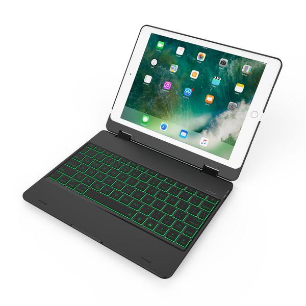 Nouveautés Ultra Slim Shell Folio en aluminium sans fil clavier Bluetooth de transport Stand Case Cover pour iPad pro9.7