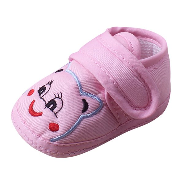 New 2018 Baby Grils Newborn Fashion Cute Cloth Baby Girl Boy Soft Sole Cartoon Anti-slip Shoes Toddler Shoes First Walkers