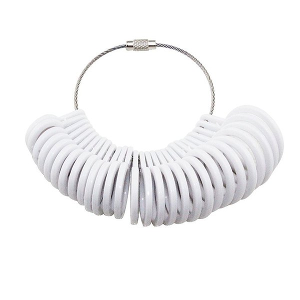 Jewelry Tool Ring Sizer Finger Sizing Measure Gauge Set Jeweler Jewelry Size Tool Ring Loop (white)