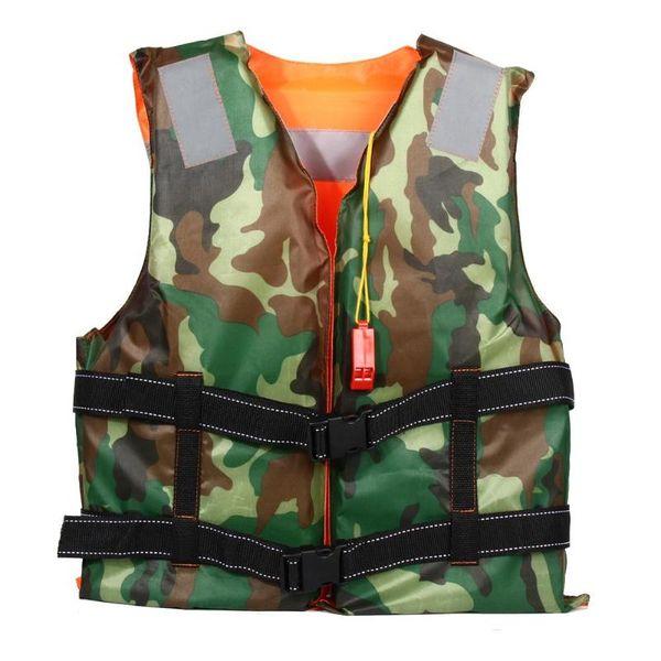 Adult Swimming Life Jacket Vest Foam Boating Ski Fishing Drifting Safety Jackets Camouflage Double Side Life Vest With Whistle