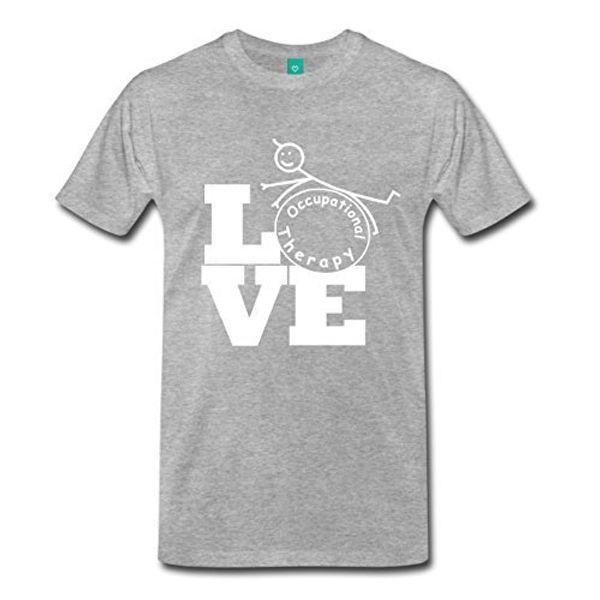 100% Pamuk Marka Yeni T Shirt Ekip Boyun Kısa Kollu Baskı Makinesi Mens Aşk Mesleki Terapi T Shirt