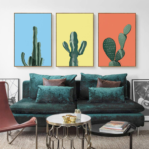 2018 cactus plants Wall paintings landscape Art Canvas Posters Prints Painting Wall Pictures for Bedroom Home Decoration
