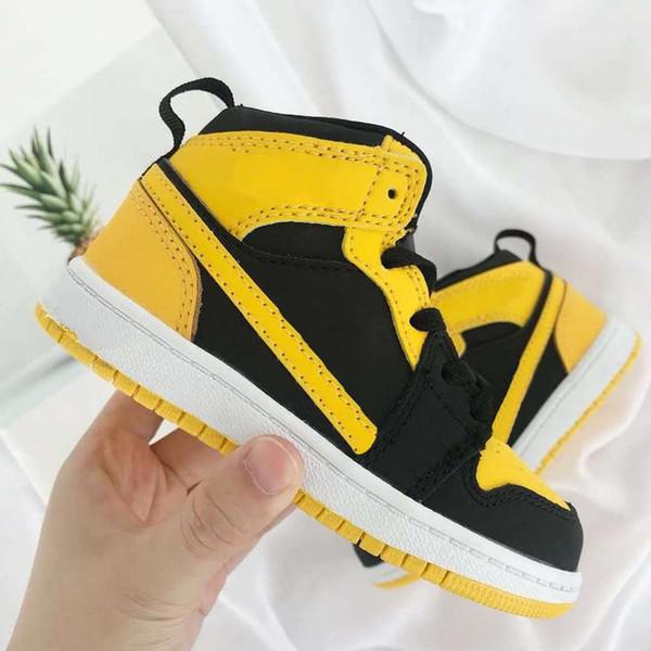 Haute qualité infantile enfant en bas âge 1 voler mi nouvelle amour chaussures de basketball préscolaire année scolaire garçon fille enfants sneaker 6c