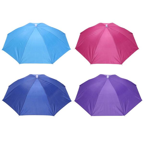 Hot Sale Folding Umbrella Hat Sun Umbrella Sun Shade Camping Fishing Hiking Festivals Outdoor Brolly New