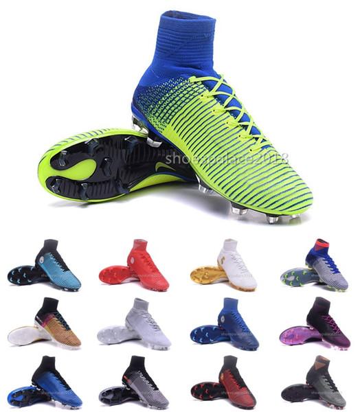 Men Women Football Boots Neymar Hypervenom Phantom JR Magista Obra 2 Mercurial x EA SPORTS Superfly CR7 FG Soccer Cleats Ankle Soccer Shoes