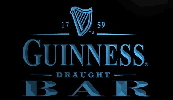 LS702-b-Guinness Draught Beer Bar 3D LED Neon Light Sign Customize on Demand 8 colors to choose