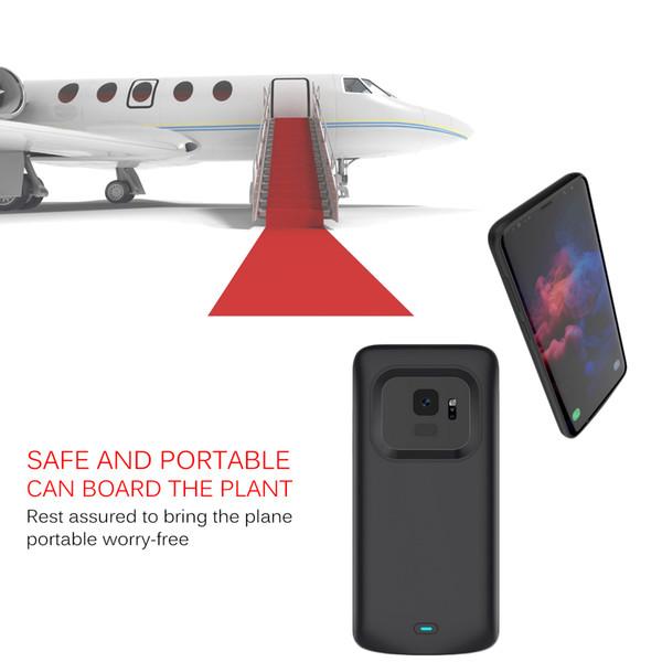 Bancos de energia carregador portátil tampa do telefone preto azul ouro cor carregador case para samsung s9 4700 mah fedex