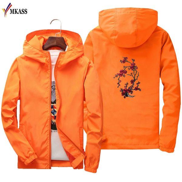 Neue Mode Männer / Frauen Liebhaber Windjacke Frühling Männer Stickerei Jacke Mantel Mit Kapuze Weibliche Jacke Männer Dünne Jacken S-7XL