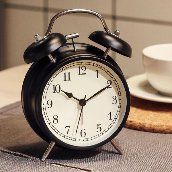 Kreative Uhr Persönlichkeit Stumm Wecker Metall Digitale Nachtlichter Tischglocke