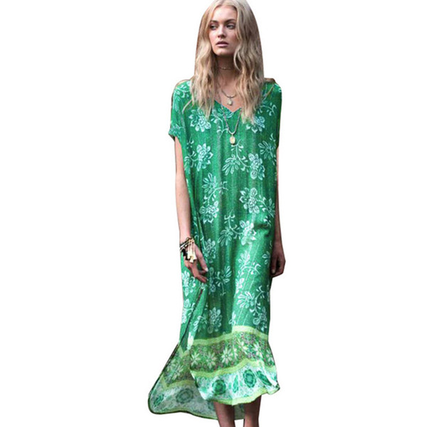 green chiffon beach cover up solid color half sleeve side split cover up for bikini swimsuit swimwear pareo