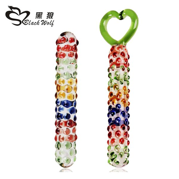 Heart shape ring Pyrex Glass Dildo Crystal fake penis anal butt plug prostate sex toys for women masturbation,dildo sex products Y18102305