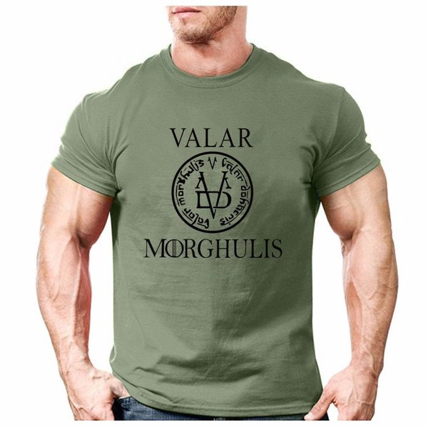 VALAR MORGHULIS Mens Gyms Clothing Fitness Compression Base Layers Under Tops T-shirt Tees High Flexibility Skins Gear Wear Sports Vest