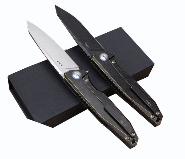 High quality CT4 titanium alloy + carbon fiber handle Camping Hunting Survival Knife Clasp EDC Tools Outdoor folding gift knife wholesale