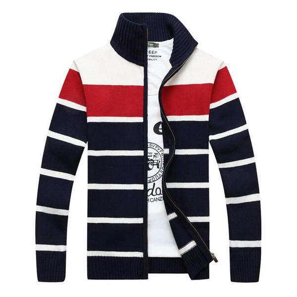 2017 Men Sweaters Famous Brand Zipper Knitted Cardigan for Men Winter Mens Turtleneck Cardigan Man Knitwear Z061