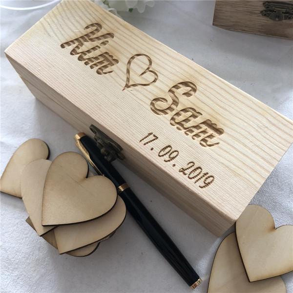 Acheter Livre D Or De Mariage Rustique Livre D Or De Mariage Personnalise Boite De Cadeau De Mariage En Bois Personnalise Avec Amour Coeur Tags De