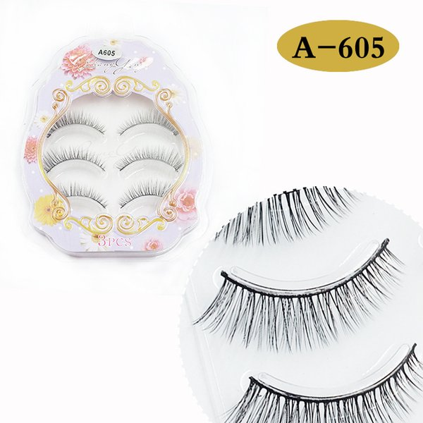 Hot Sale 3 Pairs 3D Natural Stitch Cross Messy False Eyelashes long makeup 3D Lashes Fake Eye Lashes Extension Make Up Beauty