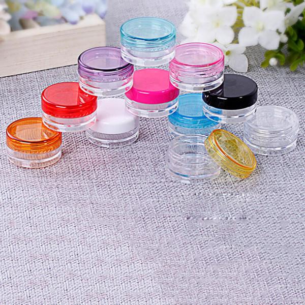 10 Pcs / Set Cosmétique Vide Pot Pot Boîte De Maquillage Outils 5g Nail Art Cosmétique Bille De Stockage Conteneur Bouteille Rond En Plastique Transparent